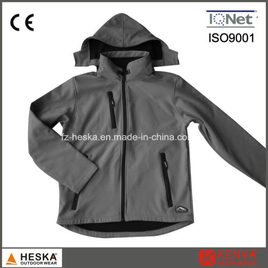 Cheap Winter Ski Jacket Mens Softshell Jacket with Hood pictures & photos
