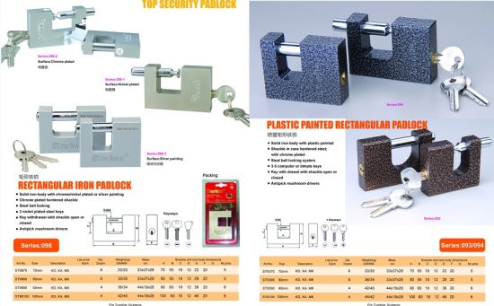 Chrome Plated Armoured Steel Padlock pictures & photos