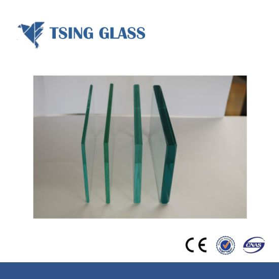 Toughened Glass Safety Glass Tempered Glass with Holes/Polished Edges/Logo pictures & photos