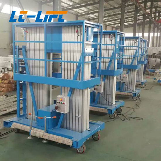 China Double Mast Low Price Hot Sale Vertical Hydraulic Man Aluminum ...