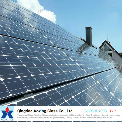 3.2mm 4mm Ultra Clear Textured Solar Glass pictures & photos