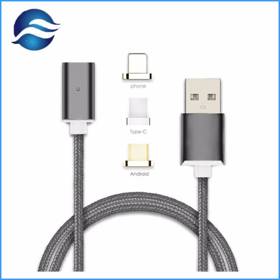 2.4A Micro USB Charging Cable Magnetic Adapter Charger for iPhone for Huawei Smart Phone pictures & photos