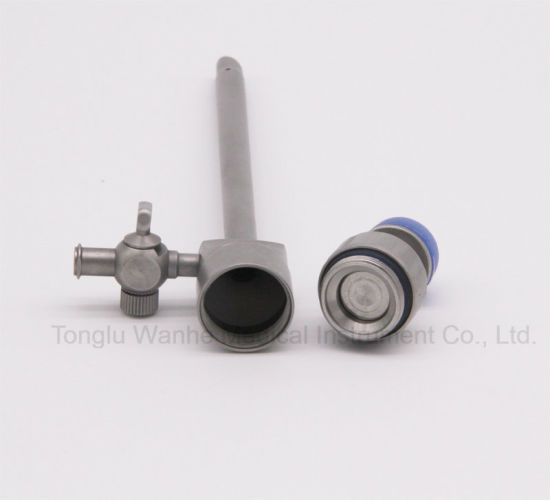 Laparoscopic Instrument Reusable Magnetic Flap Valve Trocar pictures & photos