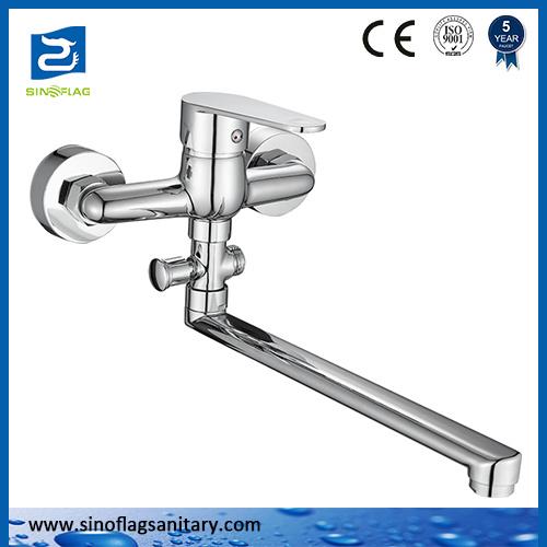 Online Wholesale Shop Water Tap Brass Bathroom Wall Mounted Kitchen Sink Faucet
