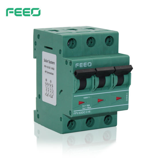 PV Application 250V Single Pole MCB DC Circuit Breaker (FPV-63) pictures & photos