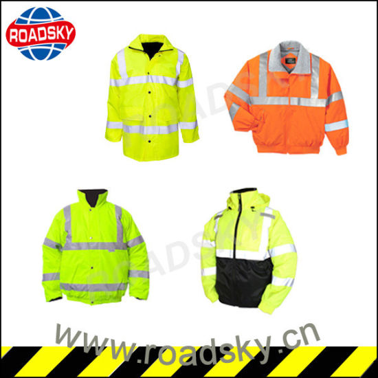Orange High Visibility Long Sleeve Nomex Reflective Safety Clothes pictures & photos