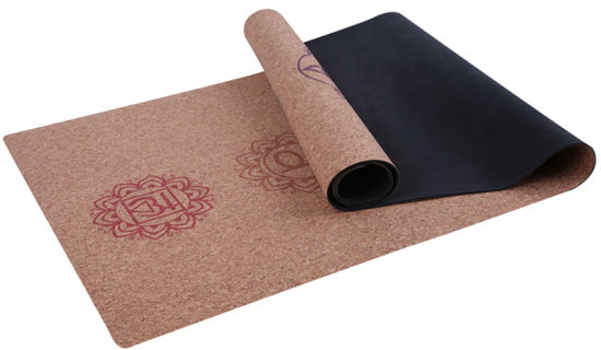 7chakra Design Printed Cork Yoga Mat Skid-Less Mat pictures & photos