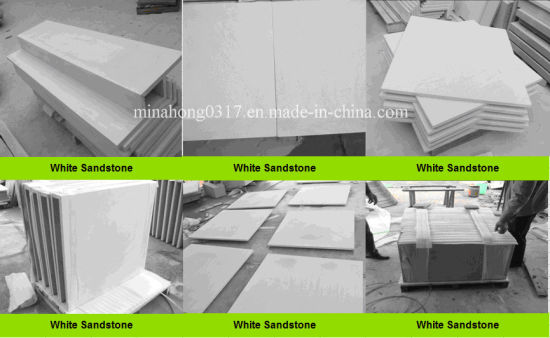 White Honed Sandstone Tiles/Split Paving/Fireplace/Fountain/Steps pictures & photos