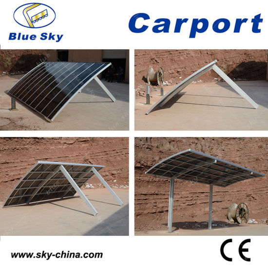 Residential Durable Polycarbonate Roof Aluminum Carport (B800) pictures & photos