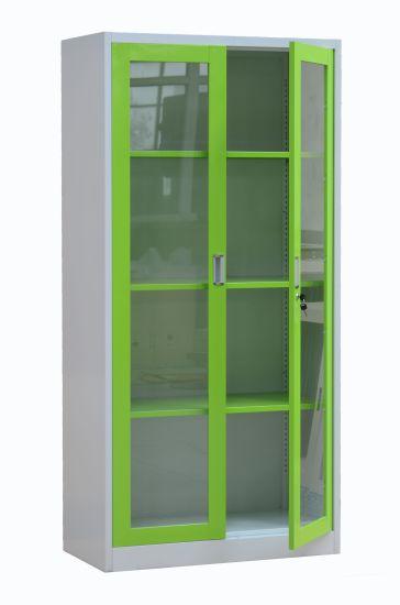 Uae Style Library Furniture Steel Display Cabinet Gl Doors Metal Filing Cupboard