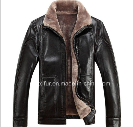 Factory Wholesale Men's Leather Jacket with Cheap Price