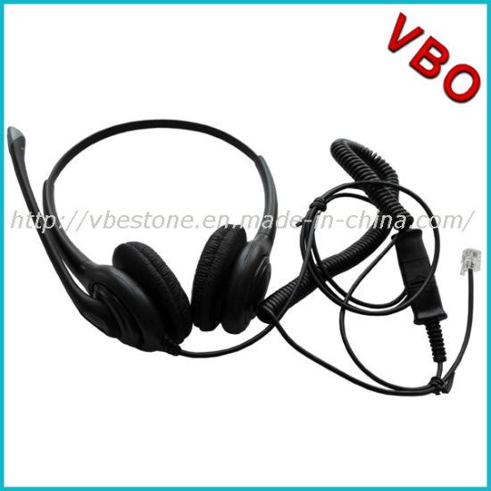 China Noise-Cancelling Headphone Rj11 Rj9 Call Center