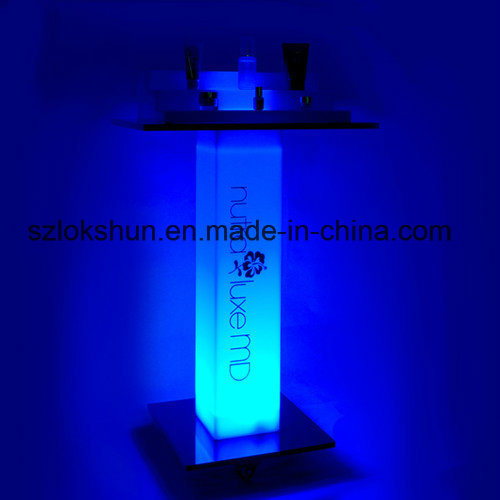 New Style Advertising Light up Display Tabletop LED Acrylic Cosmetic Display Stand pictures & photos