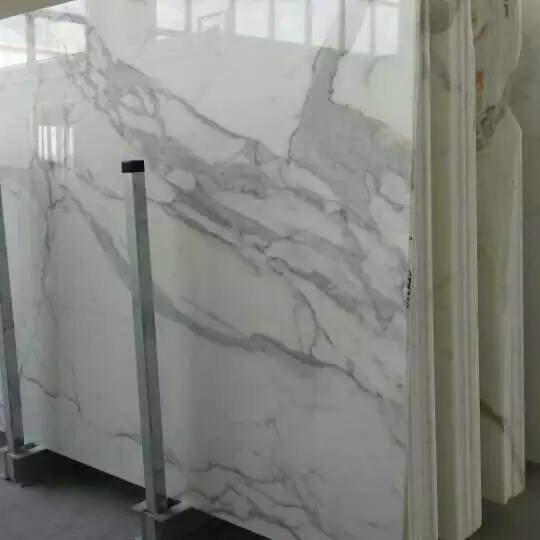 Italian White Carrara Marble for Tile, Countertop, Slab