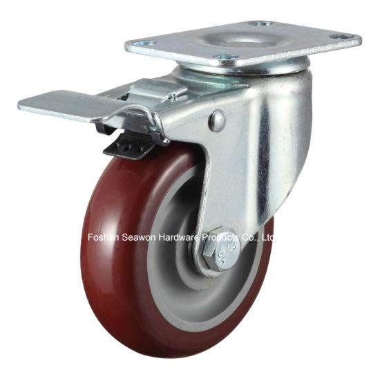 Medium Duty Swivel W/Dual Brake Polyurethane Caster