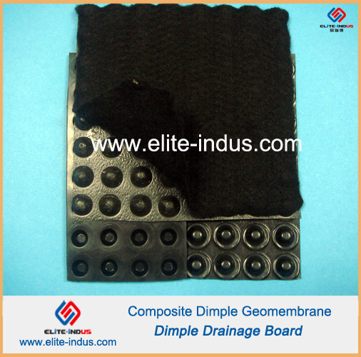 HDPE Waterproof Drainage Membrane with Non Woven Geotextile pictures & photos