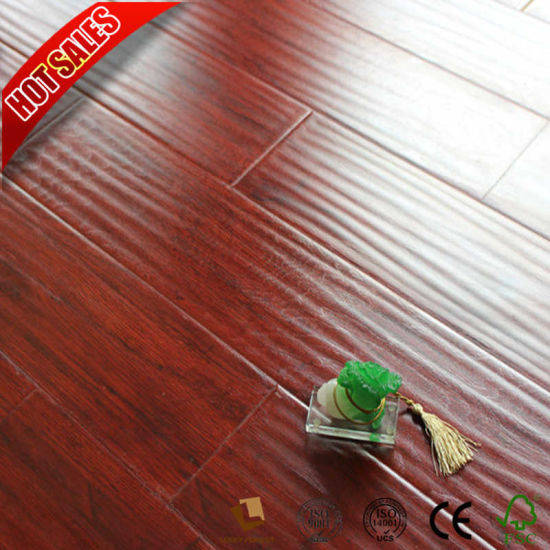 China New Color Composite Laminate Flooring Cherry Red 8mm 12mm
