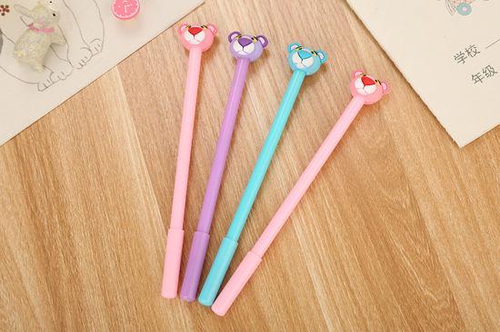 China Pink Panther Writing Materials Black Gel Pens