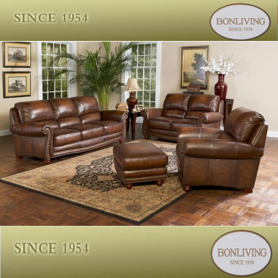 American Classic Leather Sofa (6649)