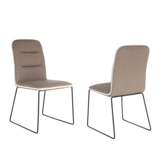 Wholesale Modern Metal PU Dining Chair for Home Restaurant