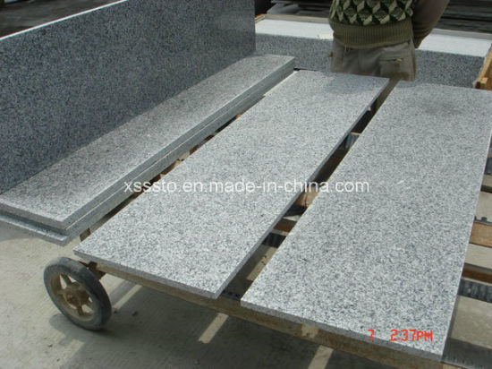 Grey G603 Polished Indoor Granite Stairs