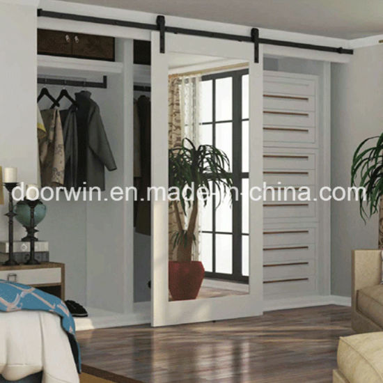 China Cheap Bedroom Door Us Oakpine Wood Frame Sliding Glass Door