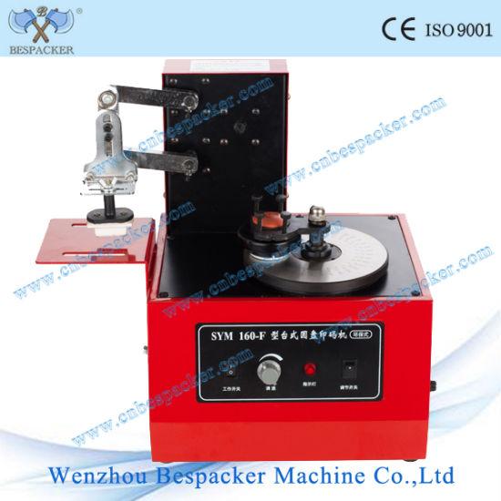 Automatic Electric Digital Round Plate Pad Batch Coding Printing Machine