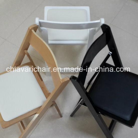 china wholesale white color wooden folding garden wedding wimbledon