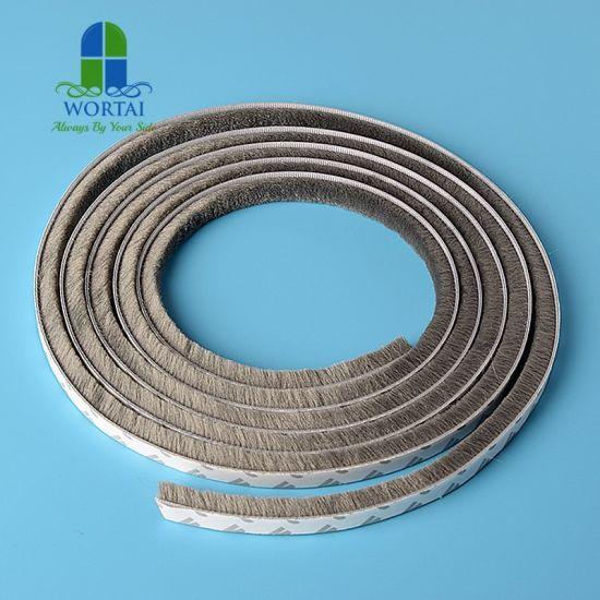 China Self Adhesive Wool Pile Sealing Mohair Weather Strip
