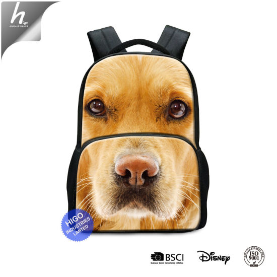 Animal Dog 3D Printed Laptop Backpack School Bag for Children pictures & photos