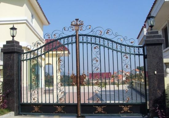 China Latest Main Gate Designs Wrought Iron Gate For Sale China