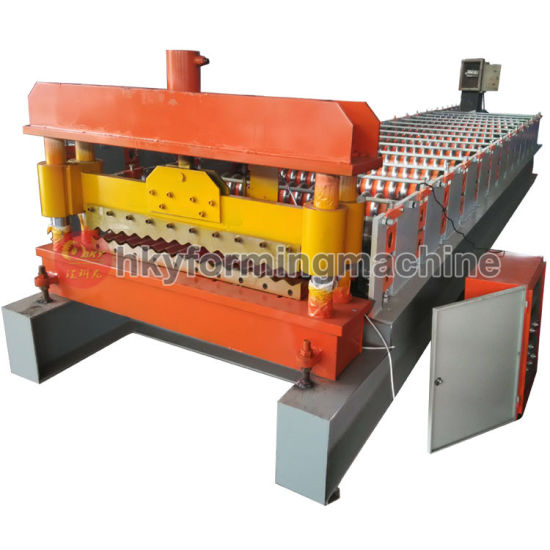 China Manufacturer Color/Galvanized Steel Roofing Sheet Roll Forming Machine