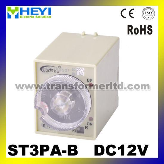 St3PA-B 220V 24V 12V Time Delay Relay Timer Relay