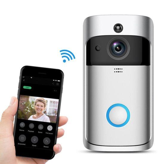 Home Security 2 Way Intercom 720p WiFi Battery Video Door Phone