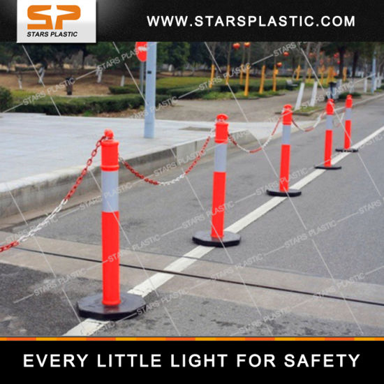 T Top Warning Flexible Traffic Delineator Post with Rubber Base pictures & photos
