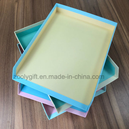 Letter Tray A4 Paper File Document Trays Colored Letter Holder Desk Organizer