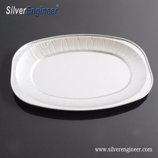 Special Design Shape Color Coating Aluminum Foil Baking Cups Fast Food Container Pet Food Trays
