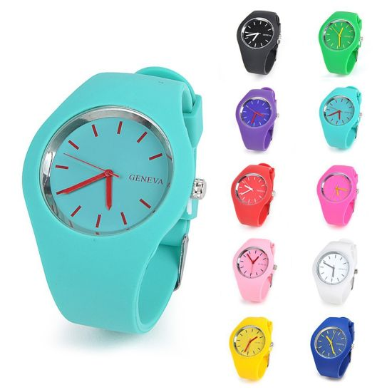 New Fashion Colorful Silicone Band Jelly Watch for Promotional pictures & photos