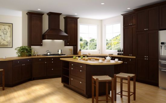 China Wooden America Standard Natural Maple Shaker Kitchen ...