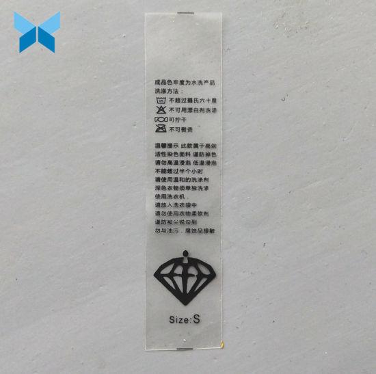 Customize TPU Transparent Printed Label for Garments/Bikinis