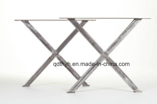 China Custom Industrial Steel X Table Legs, Metal Fabrication Parts