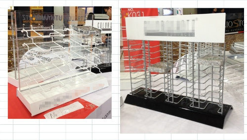 Artificial Quartz Stone Table Top Display Rack for Exhibition/Advertising Rack