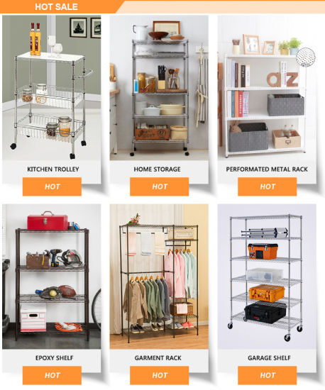 Adjustable Chrome Shelf Rack, Kitchen Wire Rack Shelf (CJ452043C2) pictures & photos