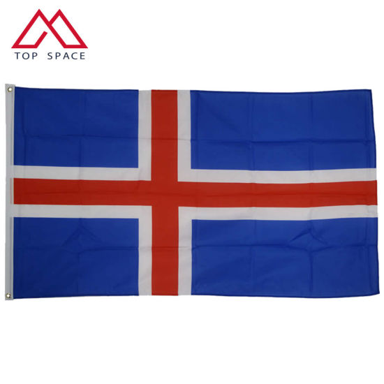 Blue Red White Iceland Nordic Cross Flag National Flag China