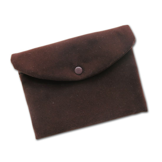 Velvet Jewelry Pouch with Zipper Closing pictures & photos