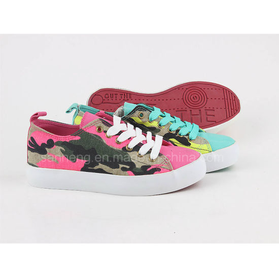 Women's Sneaker Lace up Shoes in Camouflage