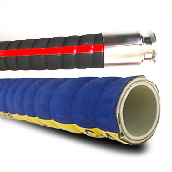 Blue Green Chemical Transfer Vacuum Rubber Suction Hose with Acid Alkali Resistant pictures & photos