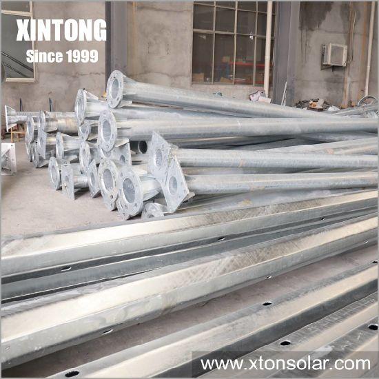 8m Galvanized Steel Electric Types of Street Light Poles Supplier
