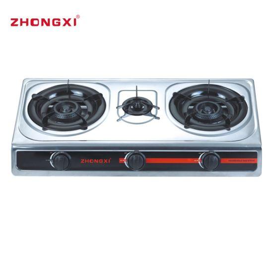 3 Burner Stove Honeycomb Burner Gas Cooker (JZ-RS302)