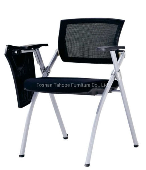 Plastic Training Chair Writepad Style Office Furniture Meeting Room Conference Study Student Use Folded Function Net Cloth pictures & photos
